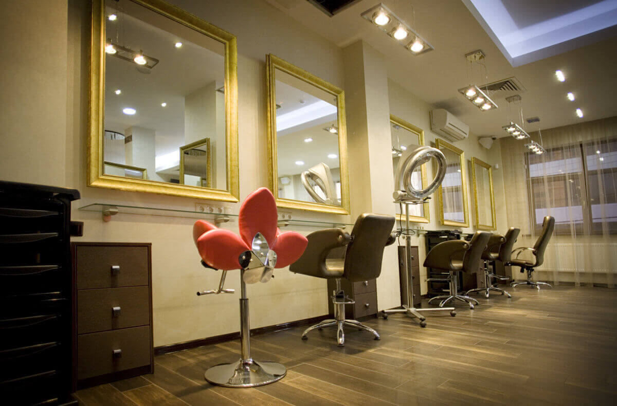 inside a salon